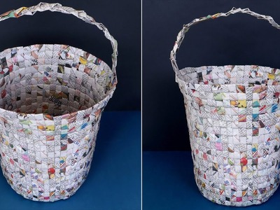 Dust Bin !! Best Out of Waste 2019 || How to Make Dust Bin From Waste News Paper || Handmade Things