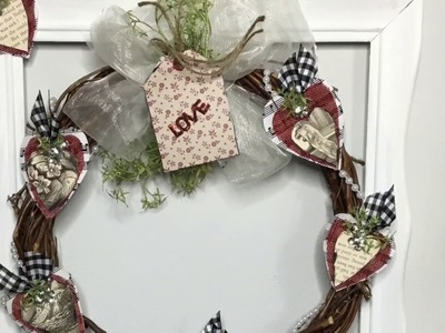 Farmhouse Style Valentine's Day Wreath