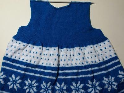 Girls frock Knitting design #- part - 2