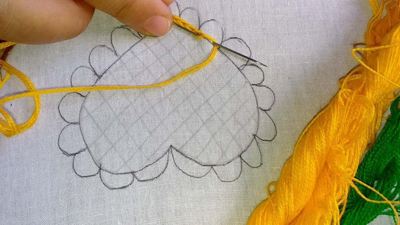 Hand embroidery cushion cover design | plow cover | Bed sheet design.