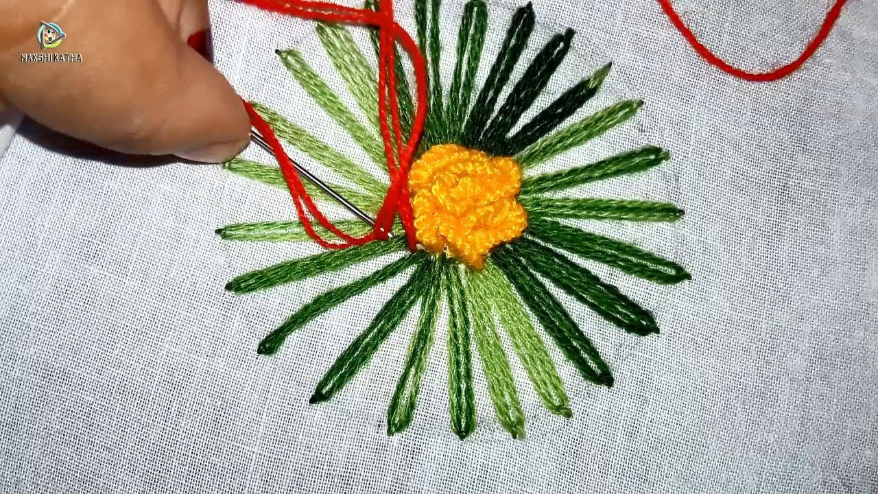 Hand embroidery cushion cover design by nakshi katha.