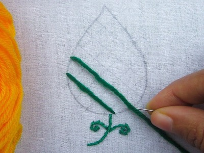 Hand Embroidery, Lattice Stitch Embroidery, Leaves Embroidery Tutorial