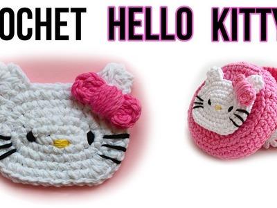 How to crochet hello kitty. Free tutorial. pattern. Easy Crochet