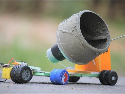 How to make a cement mixer - simple cement mixer