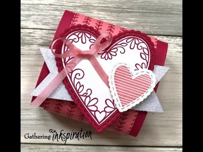 How to make a Valentine Treat Box using the Stampin' Up! All My Love Suite and Simply Scored Scoring