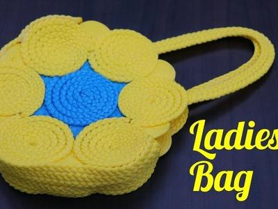 How to make Macrame ladies hand bag Or Purse Using Macrame Thread | DIY Ladies hand Bag Unique Idea