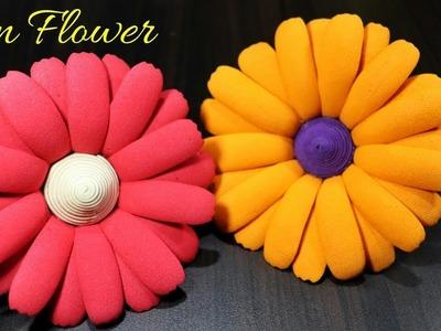 How To Make Sun Flowers | Foam Sheet Flowers Diy | Handmade Flower Craft
