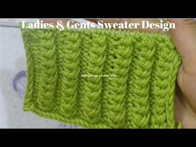 7755a69c0d5aa2 Knitting design for ladies and gents sweater 2018