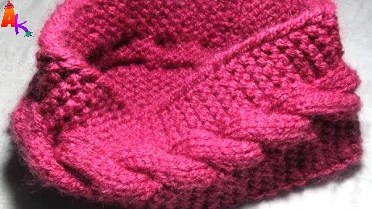 Knitting woolen ear warmer Hindi