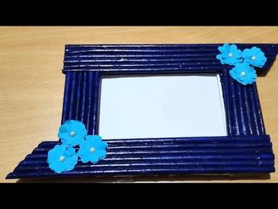 Newspaper photo frame tutorial  photo frame  How to make photo frame at home