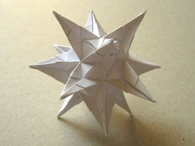 "Origami ""Spiky Star"" by David Brill (Part 2 of 2)"