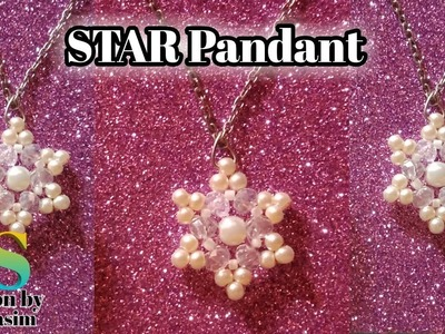 Pearl Pandant    how to make star pandant    5 mint beading pandant