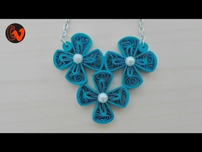 Quilling Necklace. Jewellery Making