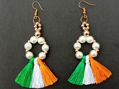 Rebublic Day Special. Easy. Hand Made. Tricolour. Earrings. Tutorial. Useful & Easy
