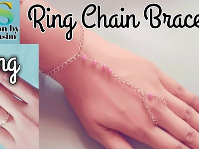 Ring chain bracelet ll how to make ring chain bracelet ll Ring with chain