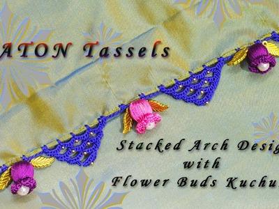 Stacked Arch Crochet With Flower Buds Tassels. Kuchu | Awesome Kuchu Design | Tamil
