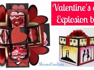 Valentine's Day Explosion Box Decoration. How to make Heart Shaped Box. Part Three