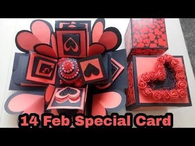 Valentine's Day Special Explosion BOX|| Black & Red Double Layer Explosion BOX|| Valentine's card