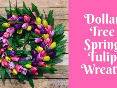 Wonderful Wreaths: Dollar Tree Tulip Wreath