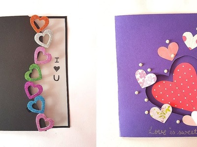 3 Easy & Quick Greeting Cards for Valentine's Day - Beautiful Handmade Greeting Card