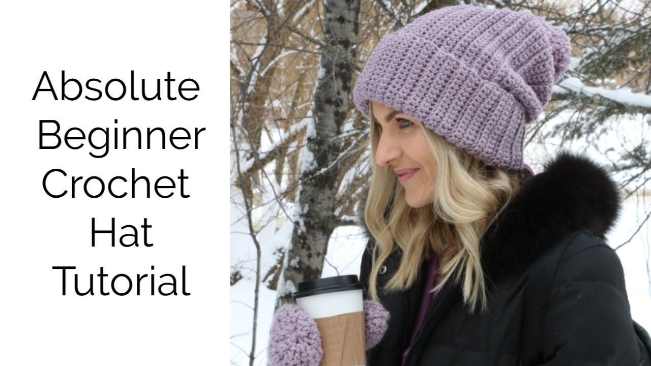 Absolute Beginner Crochet Hat - Matches Mitten