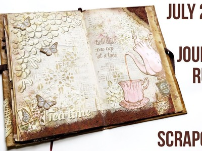 Art Journal - Rusty Tea - scrapcosy release July 2018 with PaperArtsy