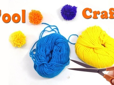 Arts and Crafts with Wool | Woolen Craft Room Decor | Room Decoration Ideas with Wool