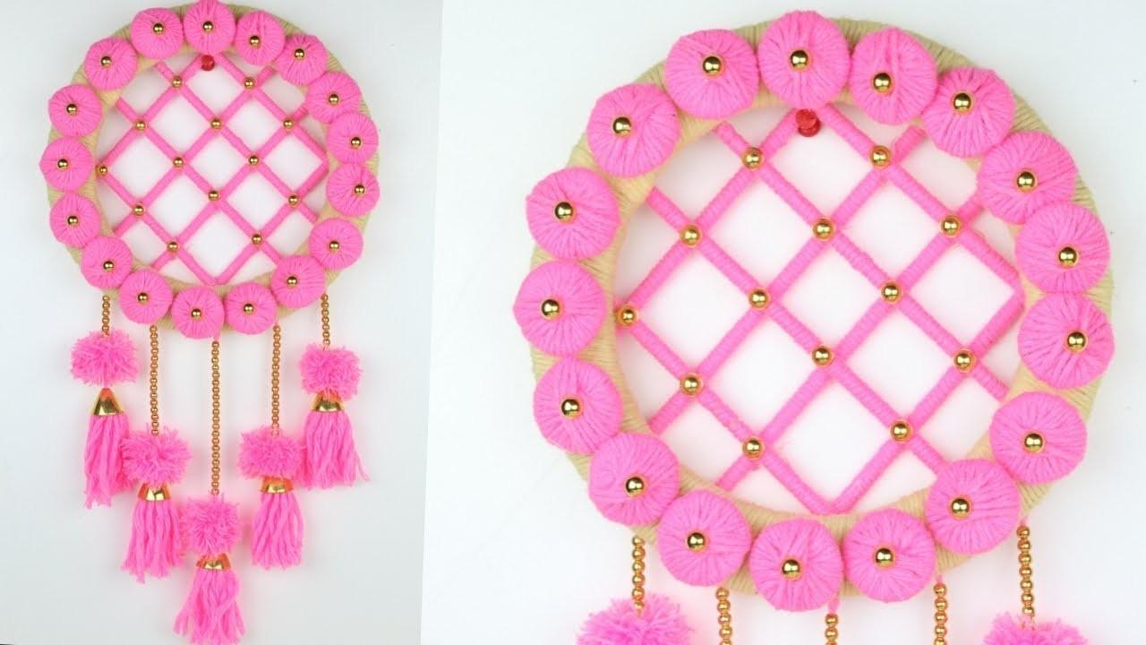 Awesome Door Hanging Toran With Woolen.How To Make Door Hanging.Best Out of waste idea