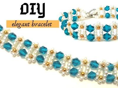 Beading for beginners. How to make an elegant bracelet. Bracelet tutorial