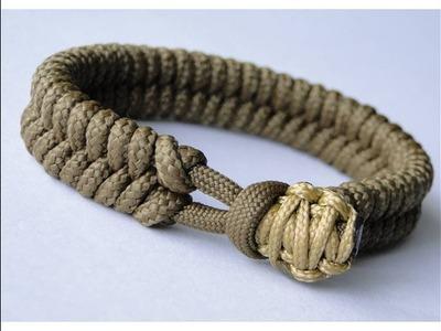 CBYS Suggested Design - Make a Fishtail Knot.Cobra Knot Closure Paracord Survival Bracelet