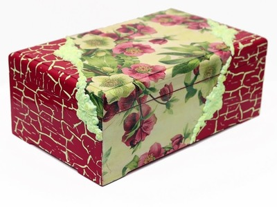 Decoupage box with napkin and silicone molds-DIY