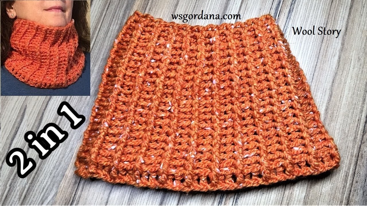 DIY Crochet Messy Bun Hat and Scarf (2 in 1) - (kapa i šal)