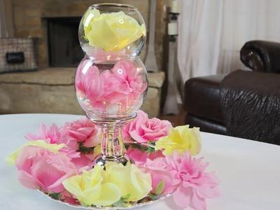 DIY Dollar Tree $10 Spring Collaboration Challenge   Coffee Table Centerpiece