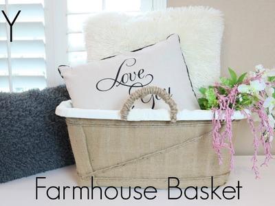 DIY Farmhouse Basket | Organizational Storage For Big Pillows and More