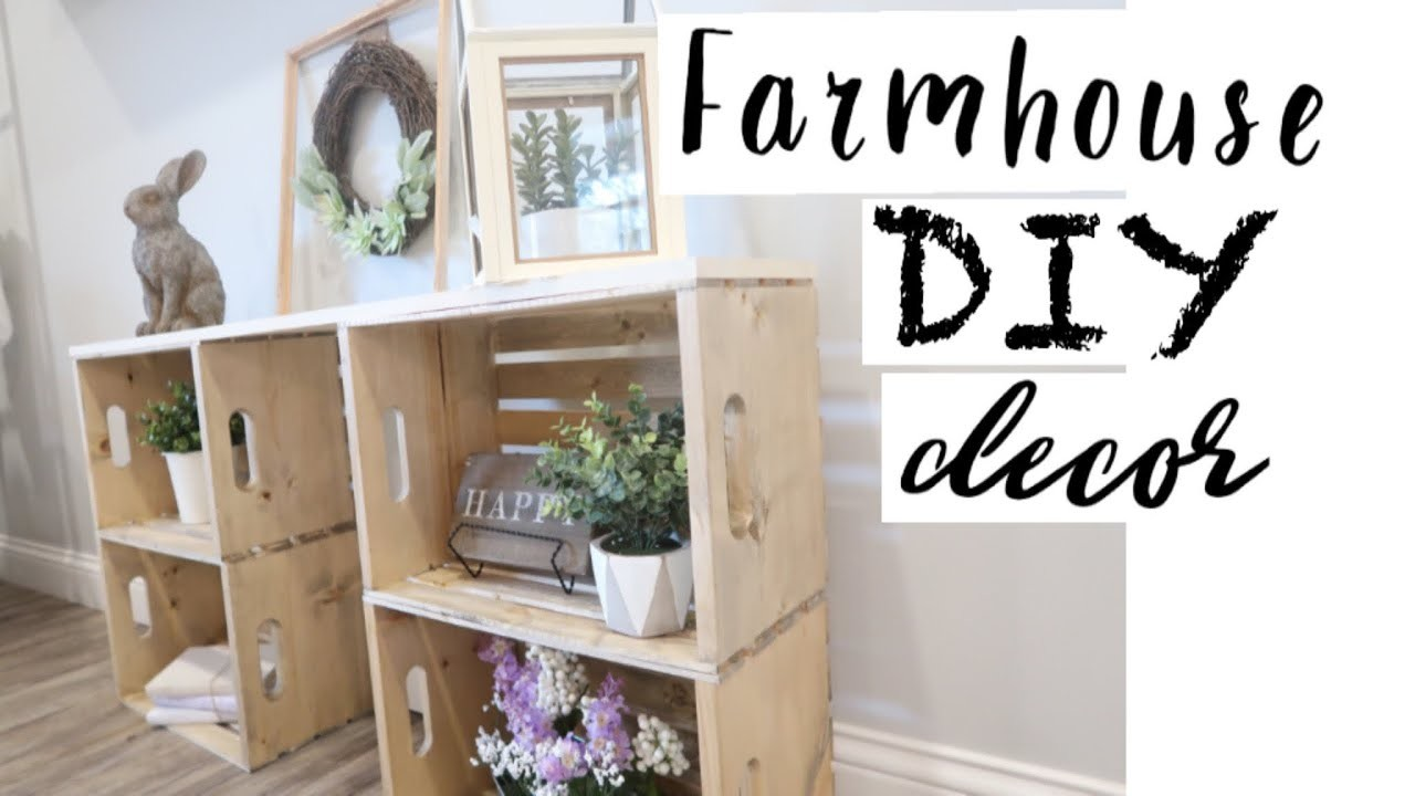 DIY FARMHOUSE DECOR | FARMHOUSE STYLE DECORATING | SPRING DECORATE WITH ME | DIY ENTRY TABLE