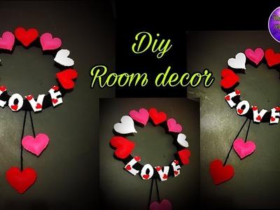 DIY felt wall hanging craft.room decoration idea.craft ideas.handmade things.Fashion pixies,