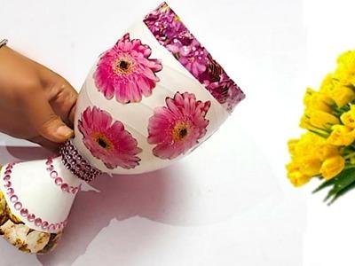 DIY-Flower vase. Guldasta from plastic bottle at home |Best out of waste Flower vase