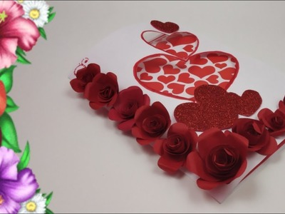 DIY Handmade Valentine's Day card for Boyfriend,Love greeting cards,Valentine Pop up card tutorial