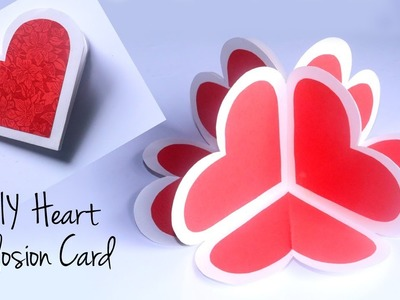 DIY Heart Explosion Card | 3D Heart Pop Up Card | DIY Valentines Day Gift Idea