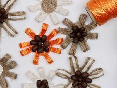 DIY Jute Flowers for Home Decoration Art and Craft Ideas