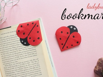 DIY Ladybug Bookmark | Corner Bookmarks | Bookmark Ideas
