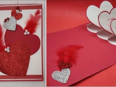 DIY Valentine Cards Handmade for Boyfriend.LOVE Greeting Card.Valentine's Day Gift idea.Pop up Card