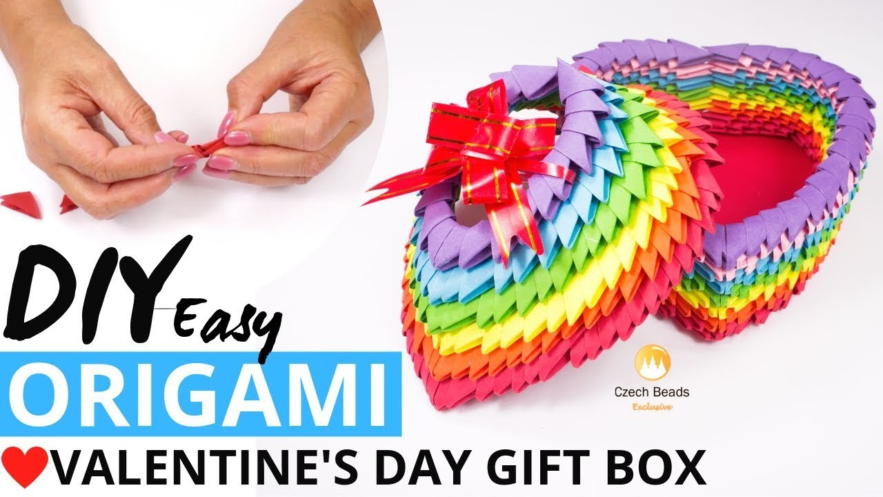 DIY Video Valentine's Day Paper Box Gift Idea 3D Origami Kits