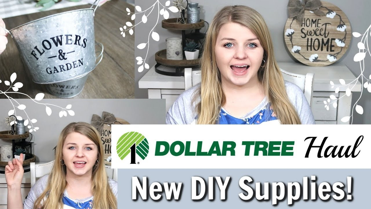 Dollar Tree DIY Supplies 2019 | Spring Dollar Tree Haul | Krafts by Katelyn