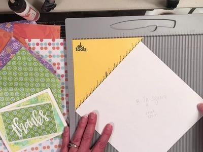 Envelope making with EK Tools Scoreboard - and matching card