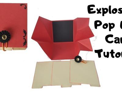 Explosion Pop Up Card Tutorial | DIY Valentines Day Explosion Box Idea