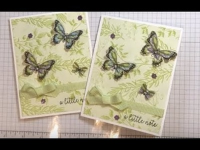 Fast and Beautiful Botanical Butterfly Thank You Card
