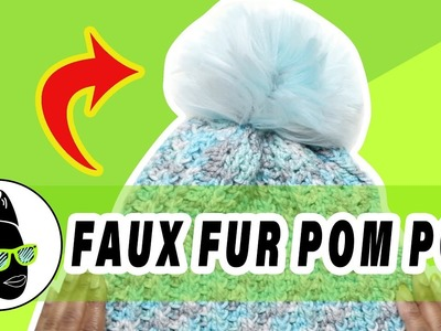 Faux Fur Pom Pom Made Out of What!?