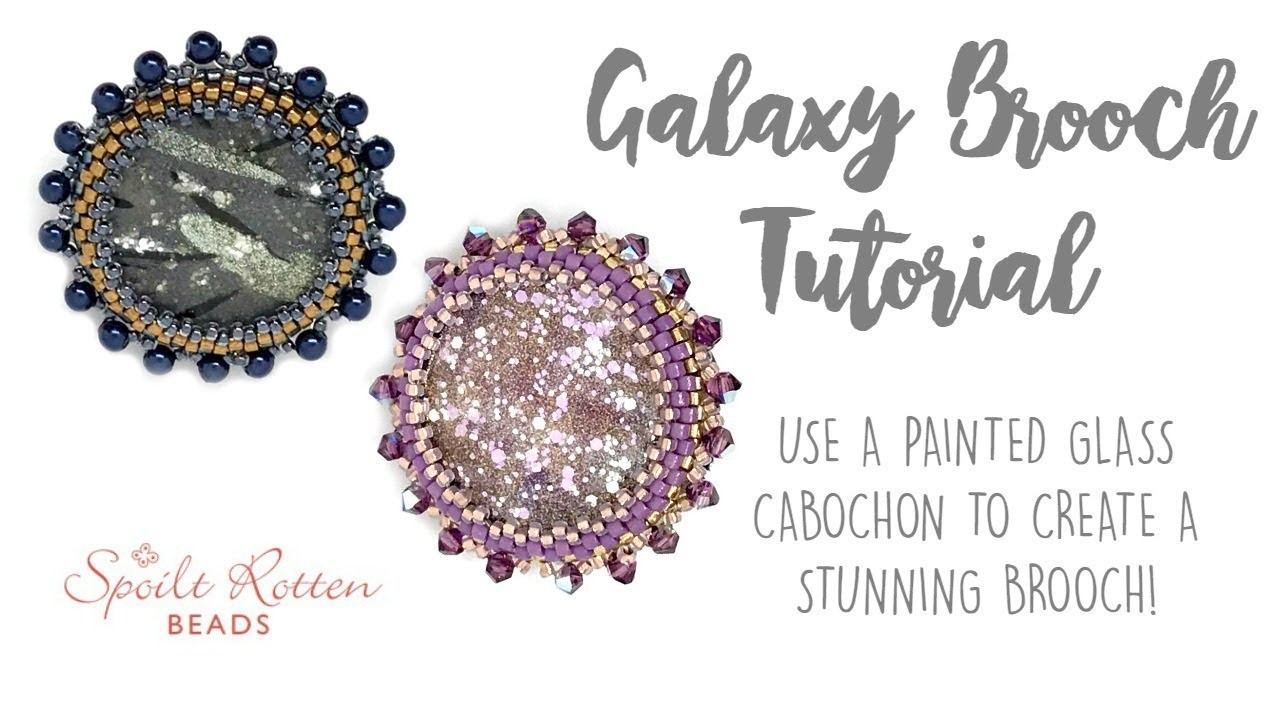 Galaxy Brooch Tutorial ???? with Bead Embroidery
