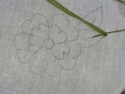 Hand embroidery | beautiful flower design | basic embroidery stitch for beginners.